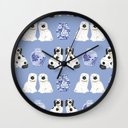 Staffordshire Dogs + Ginger Jars No. 1 Wall Clock