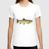 trout T-shirts featuring Brown Trout by Trinity Mitchell