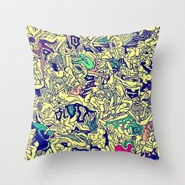 Kamasutra LOVE - Piss Yellow Throw Pillow