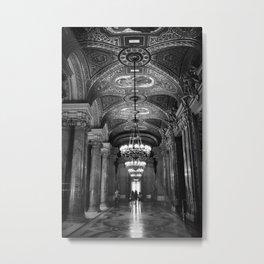Palais Garnier in Black & White Metal Print