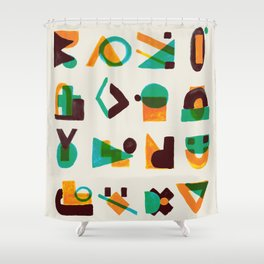 Shape of thoughts Shower Curtain