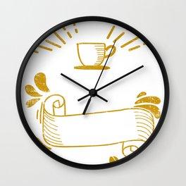 Coffee loved by caffeine lovers Wall Clock