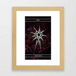 A Tarot of Ink Major Arcana XIX The Sun Framed Art Print