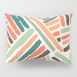 Color stitch Pillow Sham