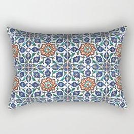 Iznik Tile Pattern Red Blue White Rectangular Pillow