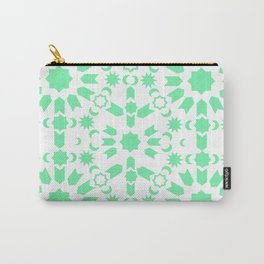 Mint Arabesque Carry-All Pouch