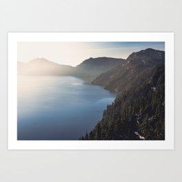 First Light at the Lake Art Print