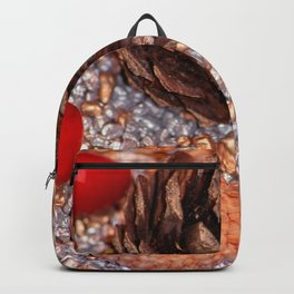 Rosa coxis in arbores autumnales Backpack