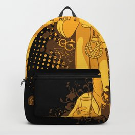 Cool Illustration Gangster Boss Backpack