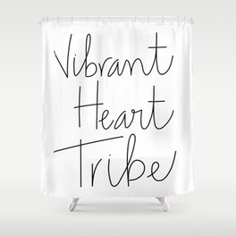 Vibrant Heart Tribe Shower Curtain