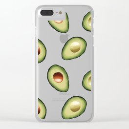 Avocados Everywhere Clear iPhone Case
