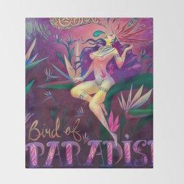Bird of Paradise Throw Blanket