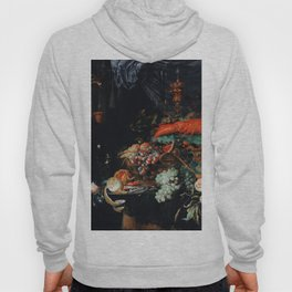 Very old German fine art, Fruits and lobster Abraham Mignon Hoody