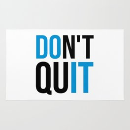 Don't Quit/Do It Gym Quote Rug