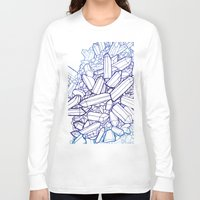 crystals Long Sleeve T-shirts featuring Crystals by fossilized