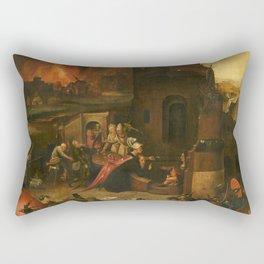 Hieronymus Bosch Verzoeking van de Heilige Antonius de Grote van Egypte Rectangular Pillow