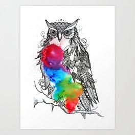 Owl love you always Art Print