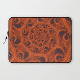 Fractal Web in Halloween Orange Laptop Sleeve