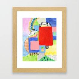 Primary Geo Summer Day Framed Art Print