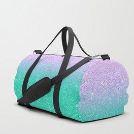 Mermaid purple teal aqua FAUX glitter ombre gradient Duffle Bag