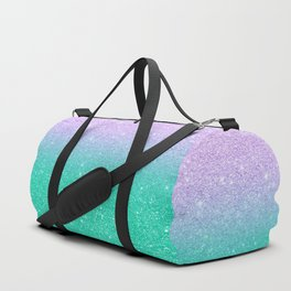 Mermaid purple teal aqua FAUX glitter ombre gradient Duffle Bag