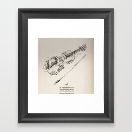 The Lady Nobody Knows Framed Art Print