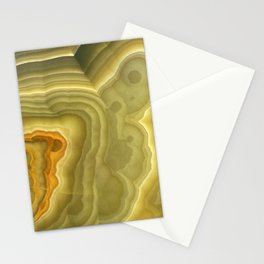 Green marble pattern Stationery Cards