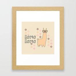llama llama Framed Art Print