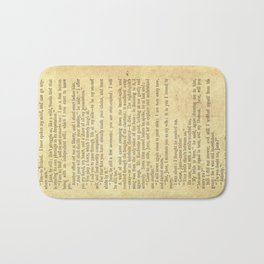 Jane Eyre, Mr. Rochester First Marriage Proposal by Charlotte Bronte Bath Mat