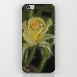 Yellow Fractalius Rose iPhone Skin