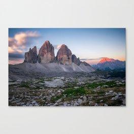 Tre cime di Lavaredo Canvas Print