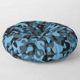 Dark Blue Camo Floor Pillow
