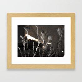 Frozen Flowers Framed Art Print