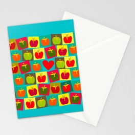 Apple and Heart Stationery Cards