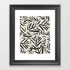 Not So Black and white leaves Framed Art Print