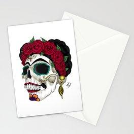 Frida khalo skull Stationery Cards