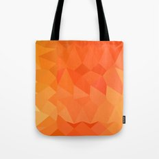 Spanish Orange Abstract Low Polygon Background Tote Bag