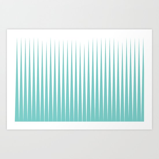 SEA SPIKES Art Print