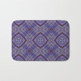 Purple Zen Doodle Pattern Bath Mat