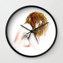 Hidden girl Wall Clock