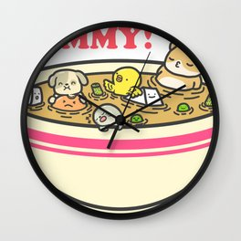Yummy! Pet Bowl Wall Clock