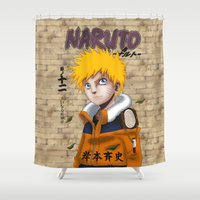 naruto Shower Curtains featuring Naruto Uzumaki by @Milre_art