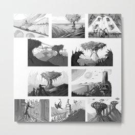 Matte painting thumbnails Metal Print