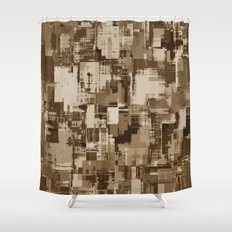 Abstract Brown Camo pattern Shower Curtain