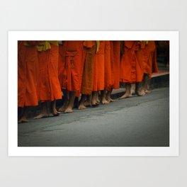 Morning alms. Luang Prabang, Laos. Art Print