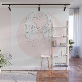 Princess Organa - single line art Wall Mural