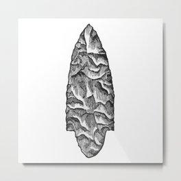 Stone spearhead Metal Print