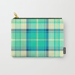 Turquoise Tartan Carry-All Pouch