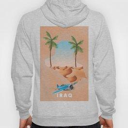Iraq Illustrated travel poster print. Hoody
