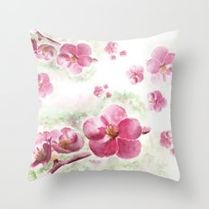 Flower arranging Throw Pillow